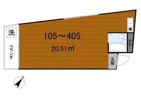 アパートメント石原・105号室の間取り