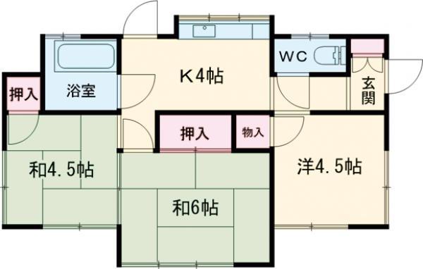 中野様貸家1号棟・1号室の間取り