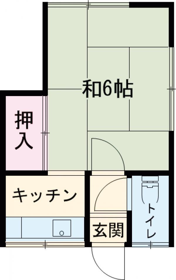 東友アパート 6号室間取り図