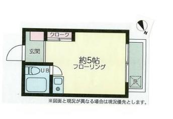 ブルーハイム菊名・206号室の間取り