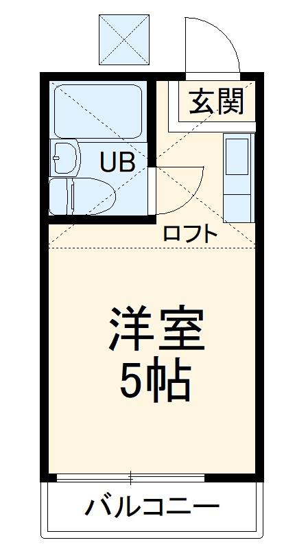 シャトー菊名・205号室の間取り