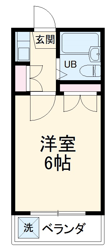 グランディ井田・102号室の間取り
