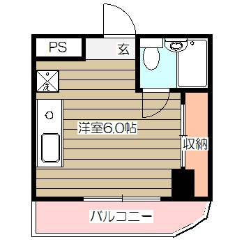 第26クリスタルマンション・401号室の間取り