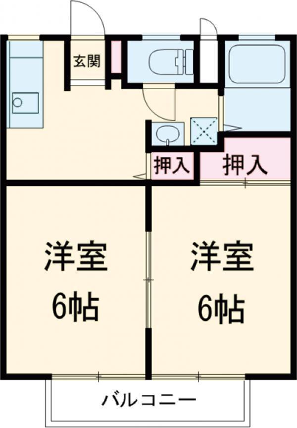 柴田ガーデンハイツF棟・101号室の間取り
