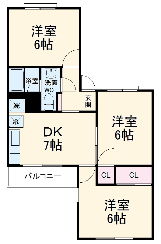新横浜グリーンテラス 206号室の間取り