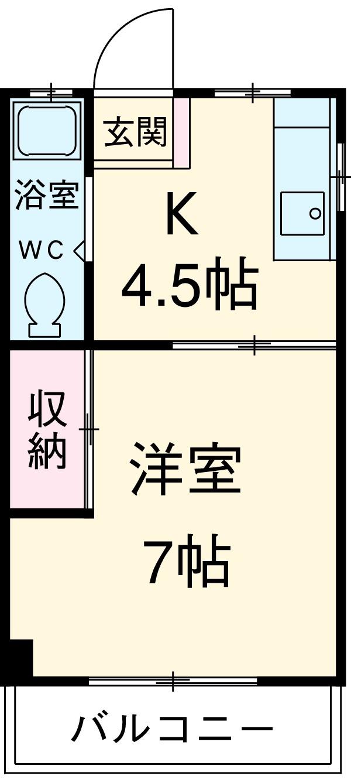 コーポヤマダ・106号室の間取り