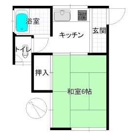 駒藤荘・202号室の間取り