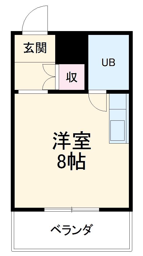 横浜エースマンション 404号室の間取り