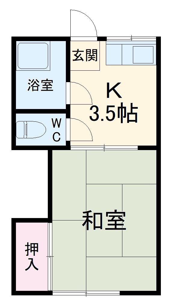 桃山荘 207号室の間取り