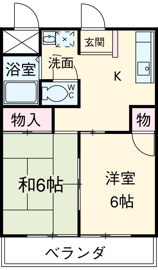 国分寺YSマンション 102号室の間取り