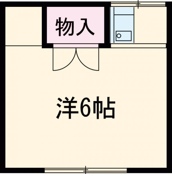 高原荘 21号室の間取り