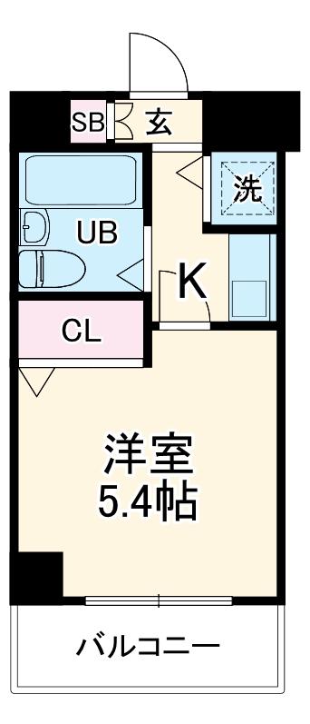 ネオマイム新子安弐番館・0406号室の間取り