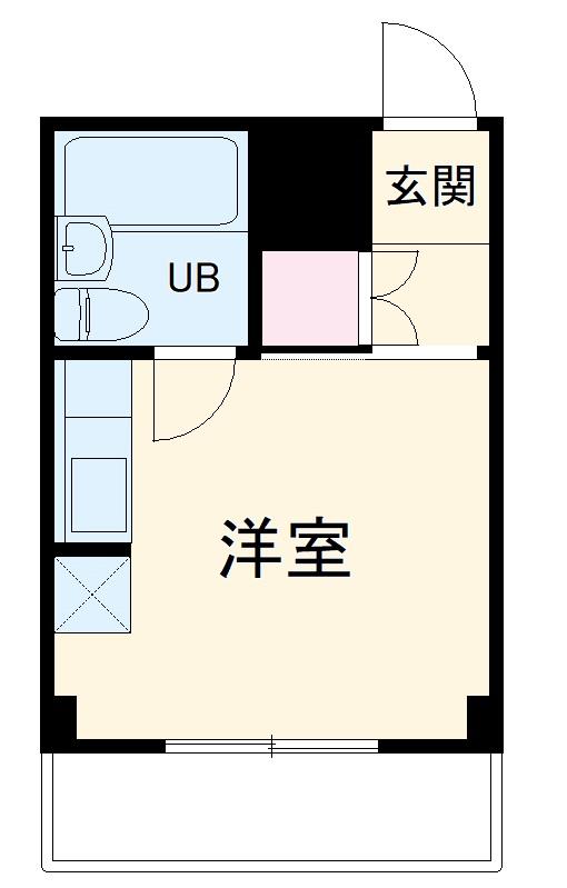 横浜エースマンション 315号室の間取り
