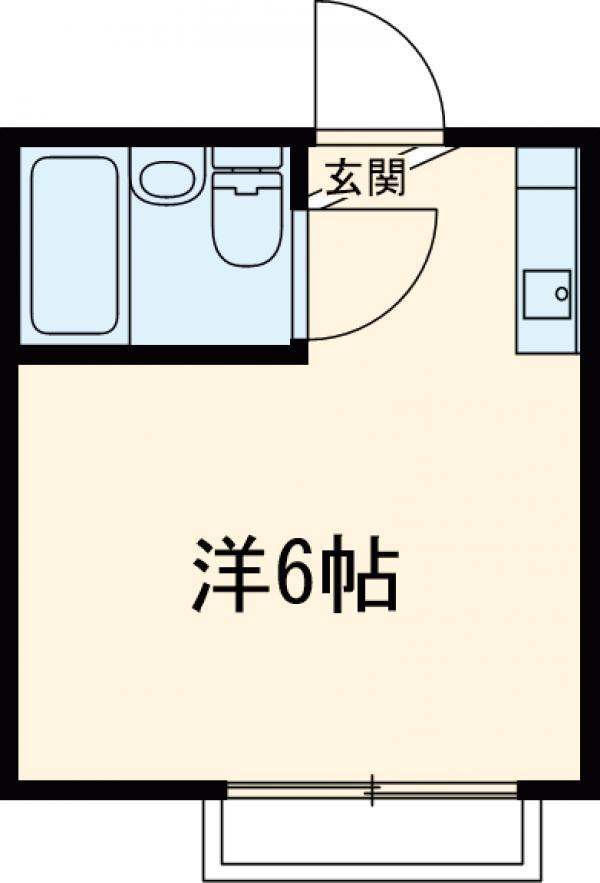 シティハイム立川 203号室の間取り