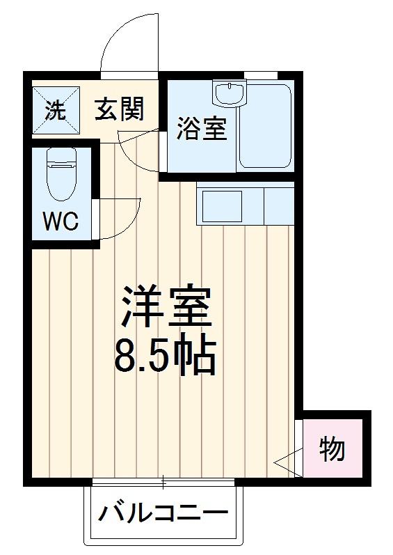 プチハウス坂倉 202号室の間取り