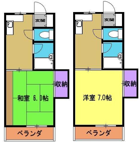 清和レジデンス2号棟 20A号室の間取り