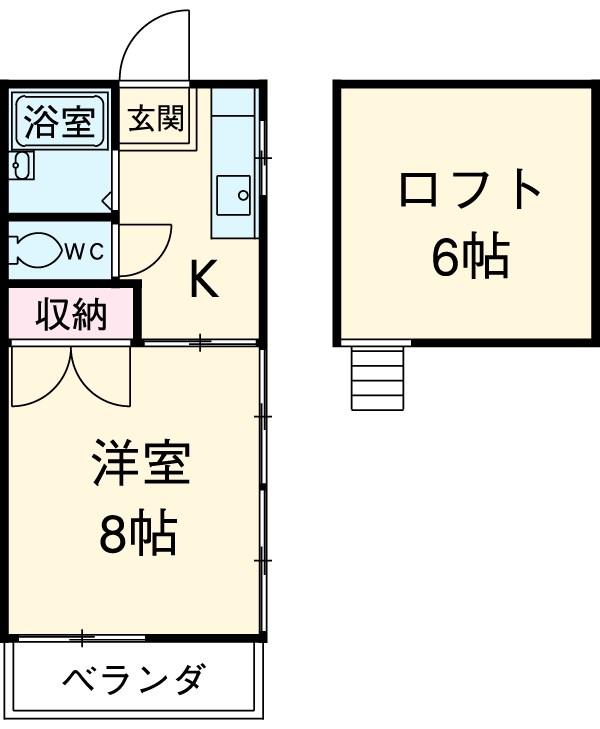 小川二葉荘 B202号室の間取り
