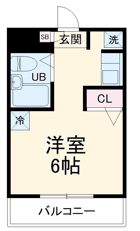 シャルム上小田中・303号室の間取り