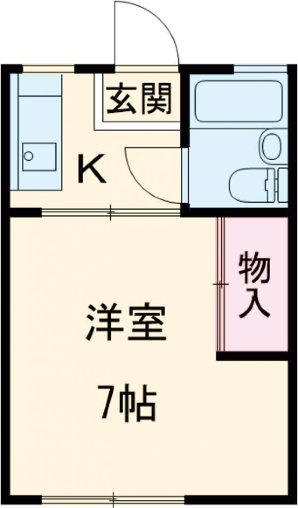 鈴木荘 204号室の間取り