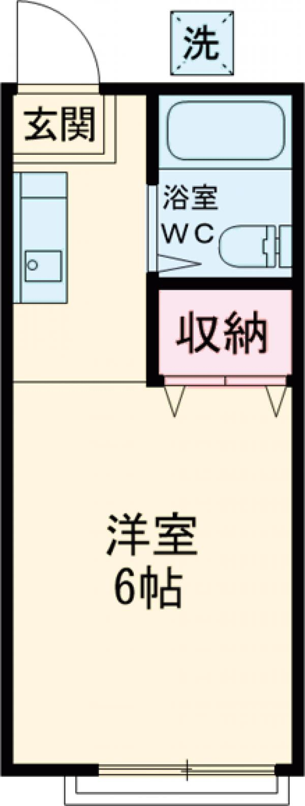 パナハイツ栗田 203号室の間取り