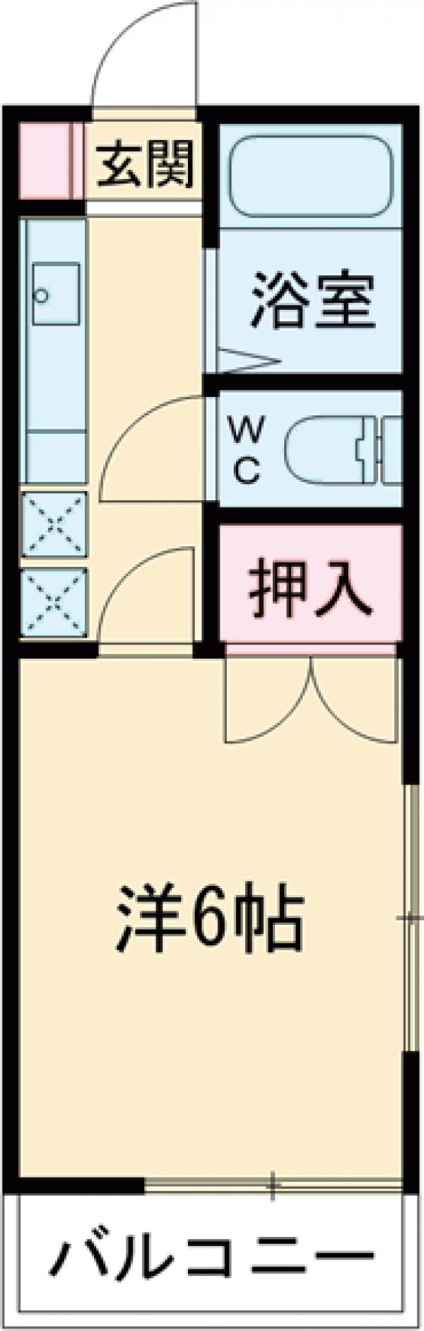 吉成荘 201号室の間取り