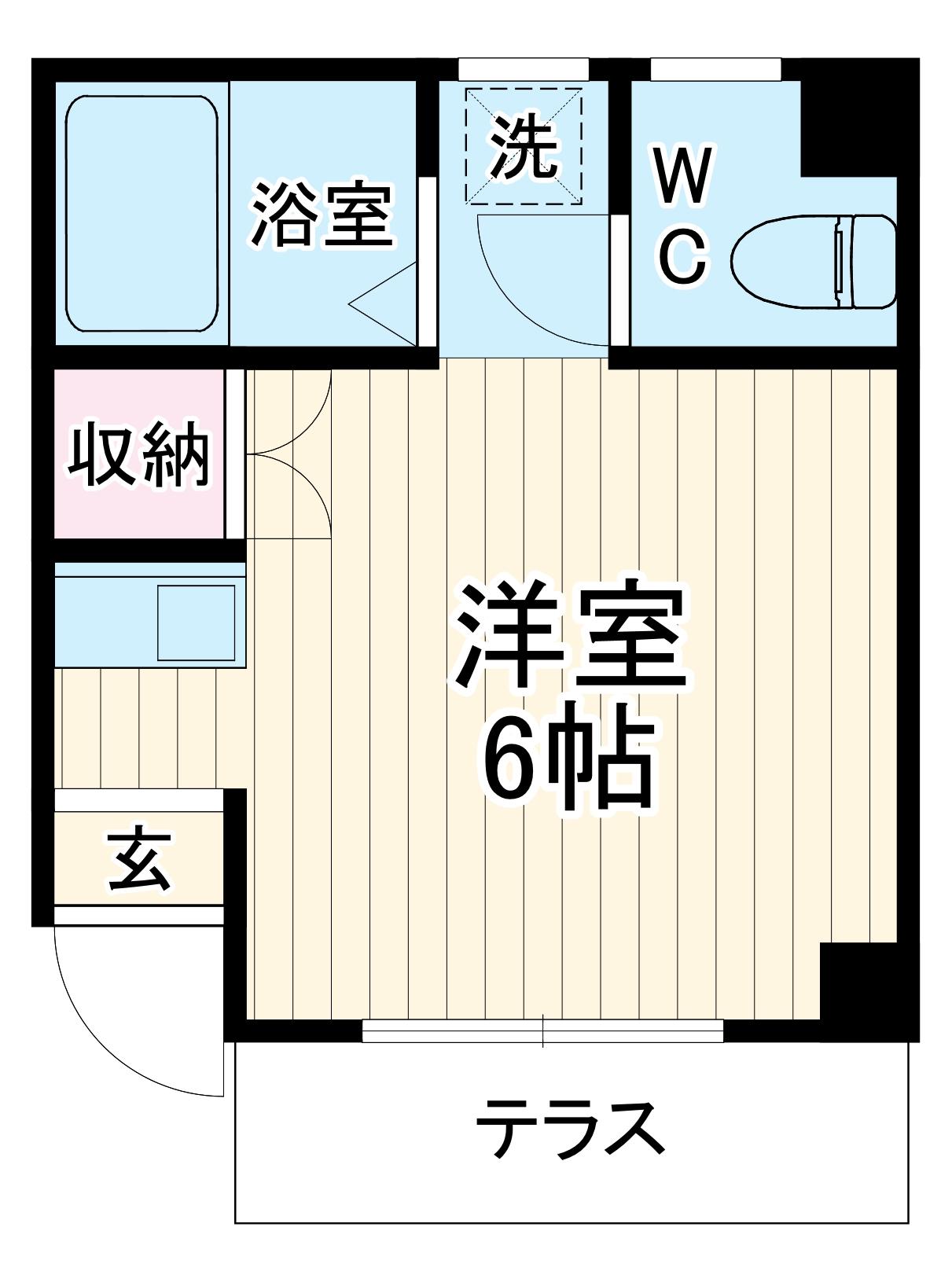 コーポヤマキ・102号室の間取り