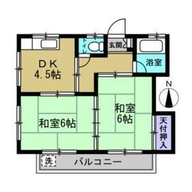 コーポ松本・202号室の間取り