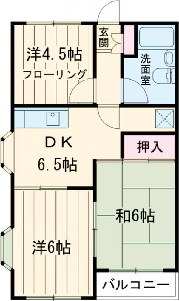 石田ハイツ・101号室の間取り