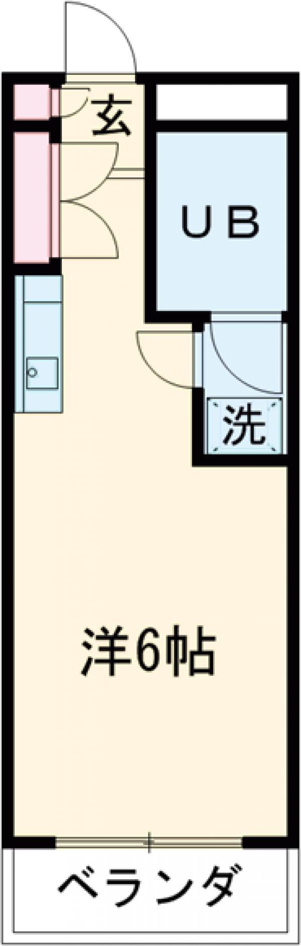 グリーンメゾン ヨシノ 102号室の間取り