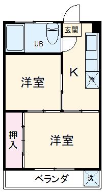 第2市川マンション・305号室の間取り