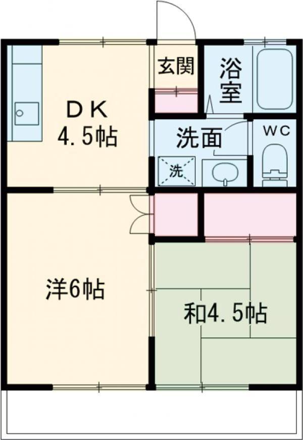 レジデンスATT栄町・203号室の間取り