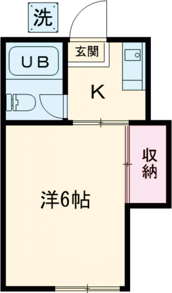 田村ハイツ・202号室の間取り