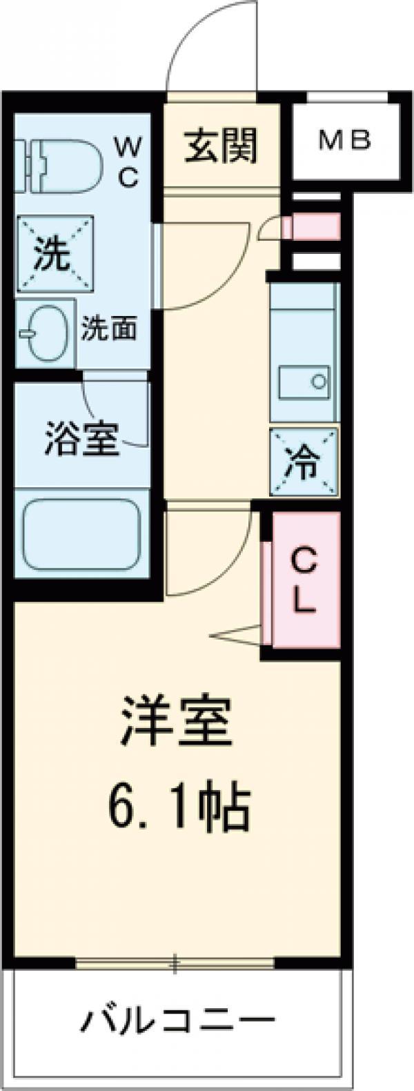 メインステージ立川Ⅲ 302号室の間取り