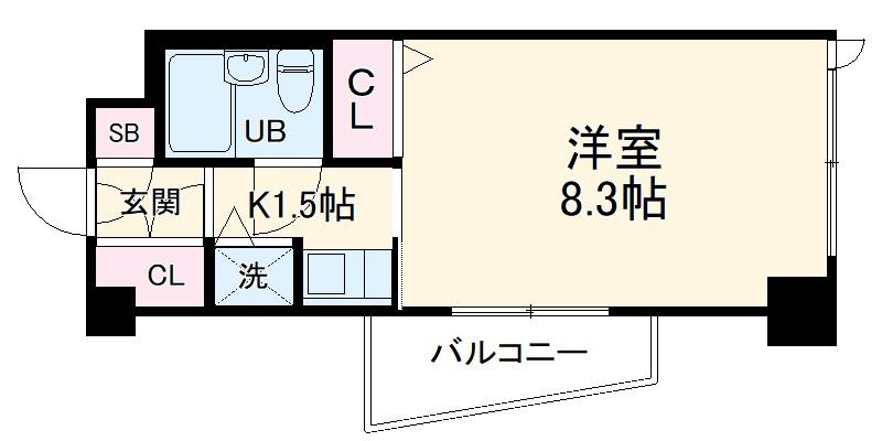 オーキッドレジデンス武蔵小杉・213号室の間取り