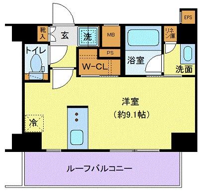 ジェノヴィア本羽田スカイガーデン・610号室の間取り