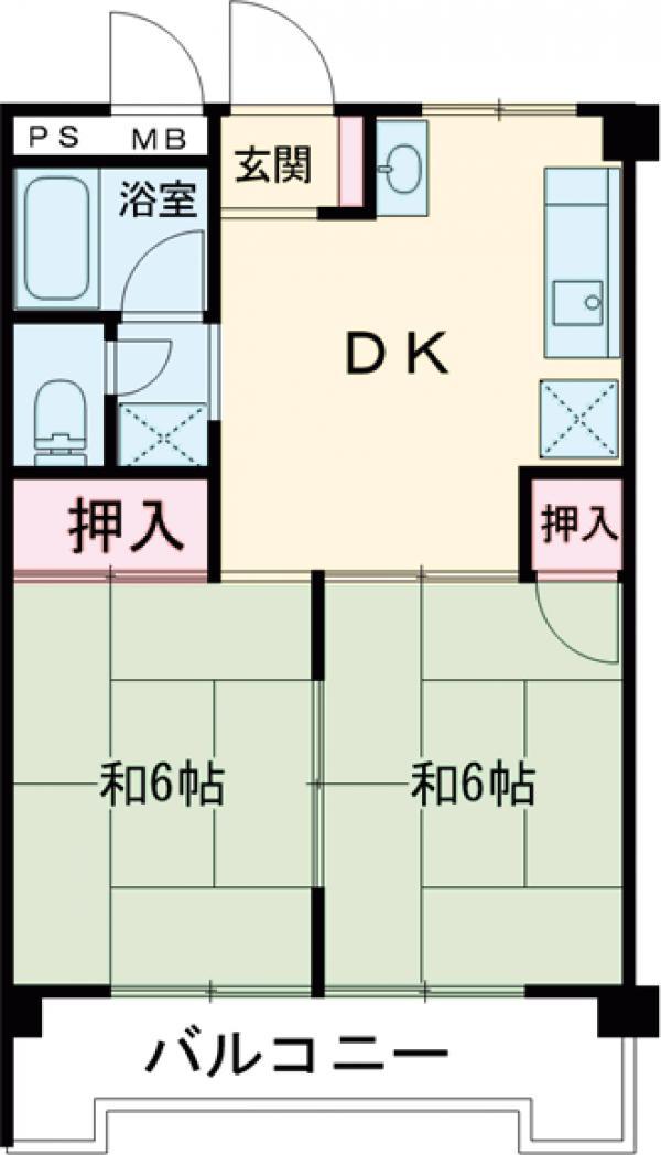 荒畑第2マンション・205号室の間取り