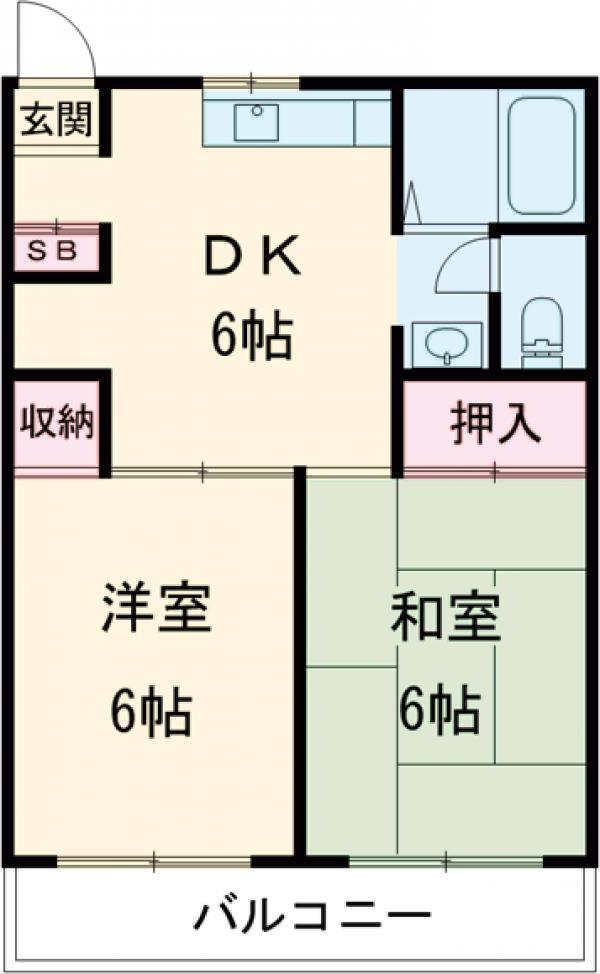 サンライズマンション・205号室の間取り