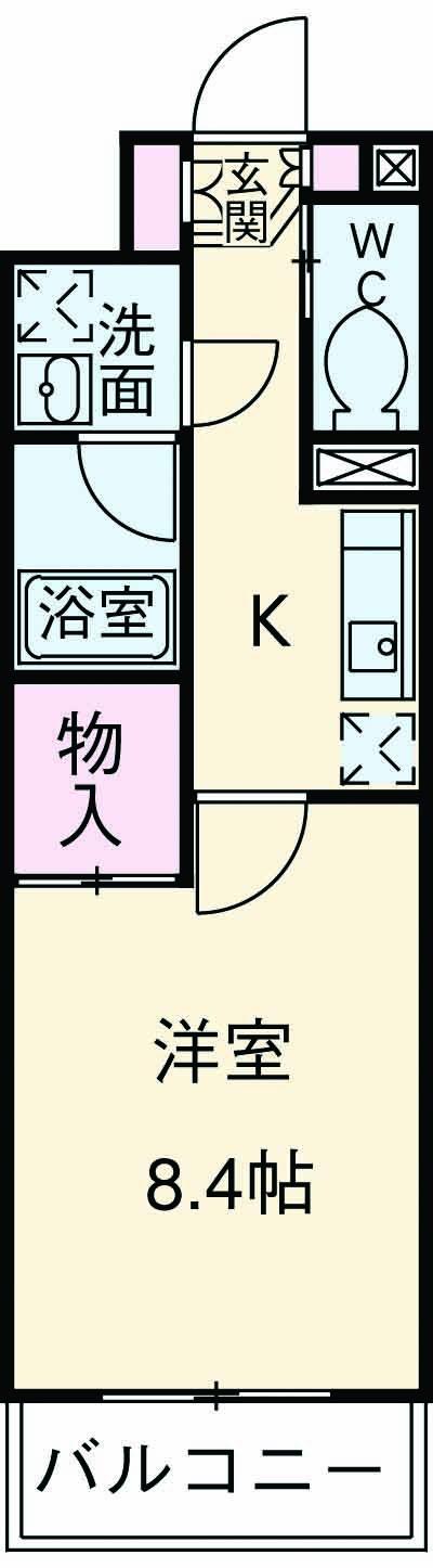 大倉山壱番館・406号室の間取り