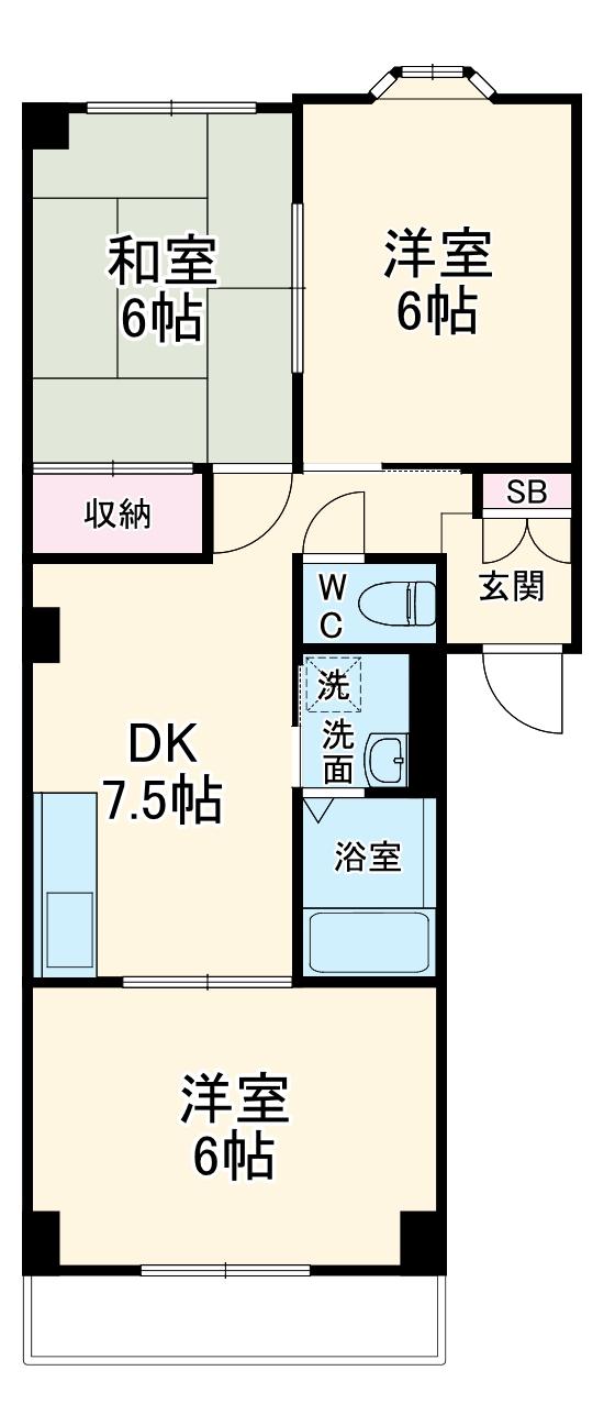 第5むさしマンション・301号室の間取り