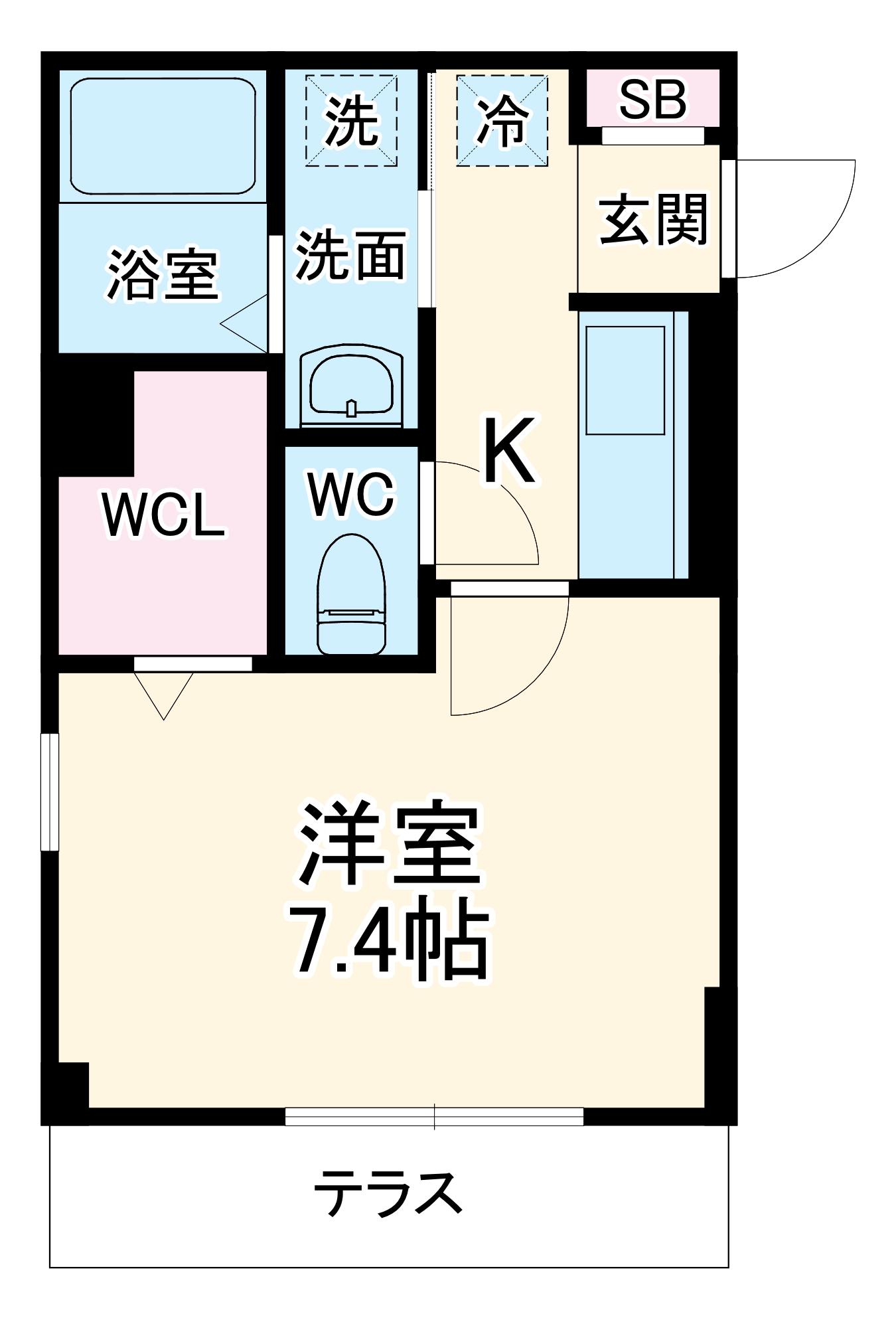 レラ武蔵新城 102号室の間取り