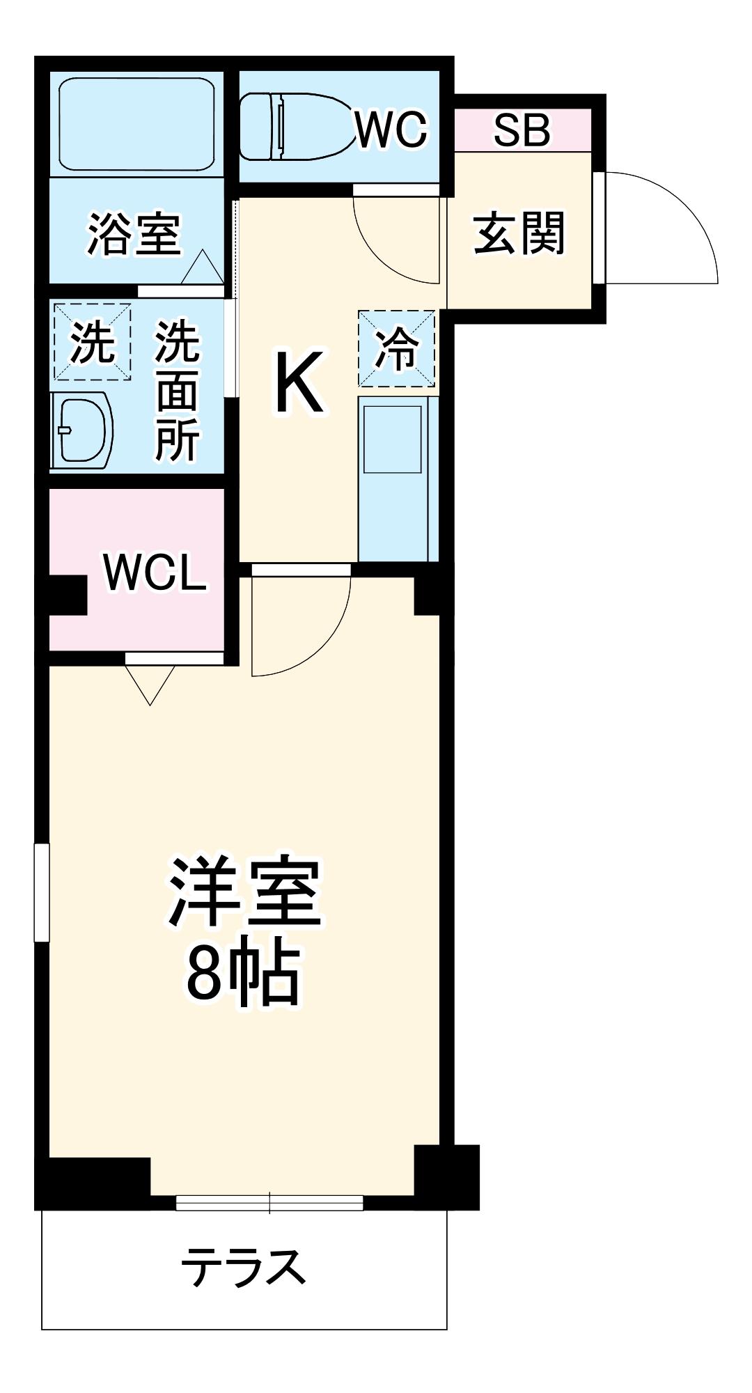 レラ武蔵新城 103号室の間取り