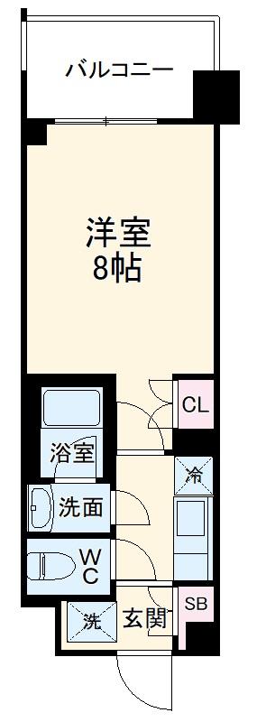 ラグゼナ東神奈川・0804号室の間取り
