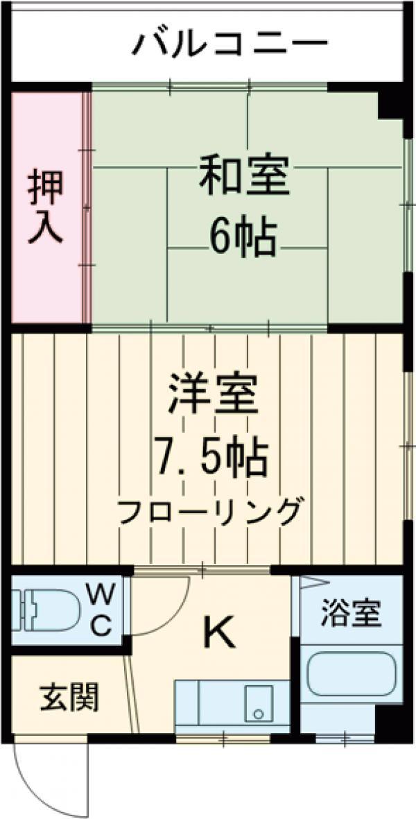 第一豊田ハイツ 3-A号室の間取り