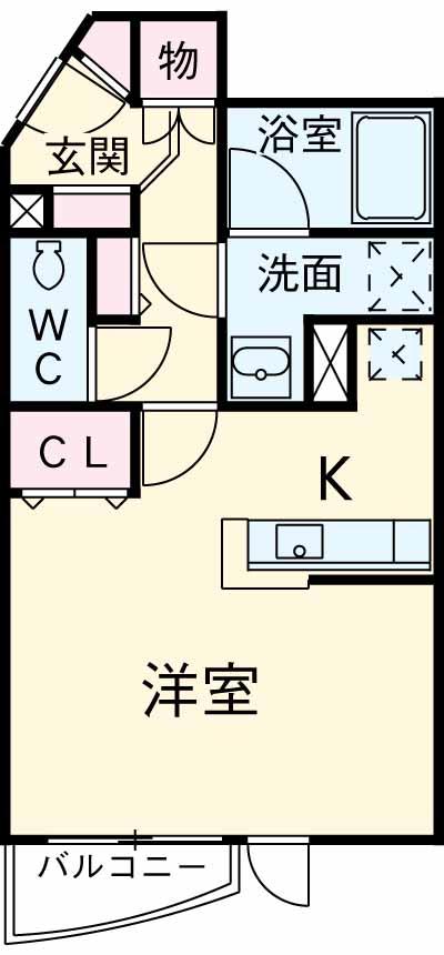 TK田園調布レディースフラッツ・2-107号室の間取り