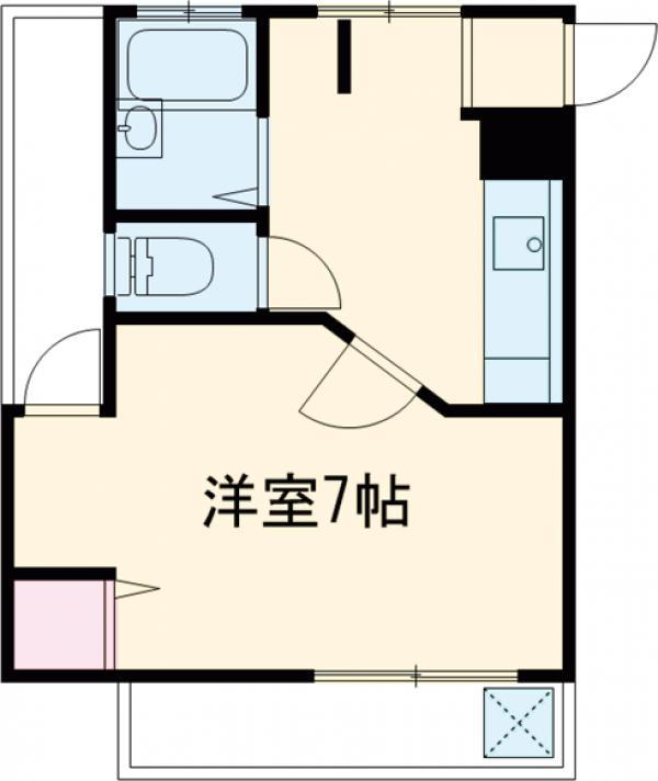 渡辺マンション・303号室の間取り
