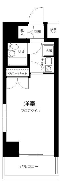 ステージファースト武蔵小山・903号室の間取り
