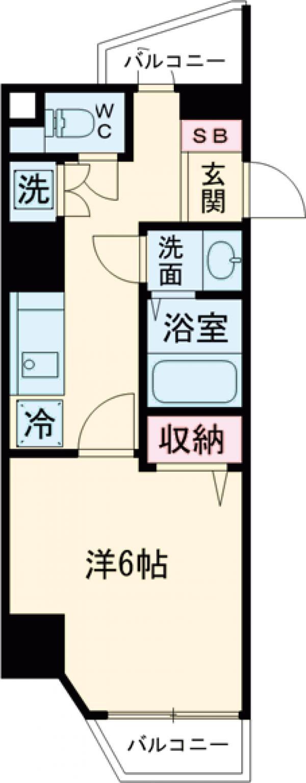 サニークレスト蒲田WEST・302号室の間取り