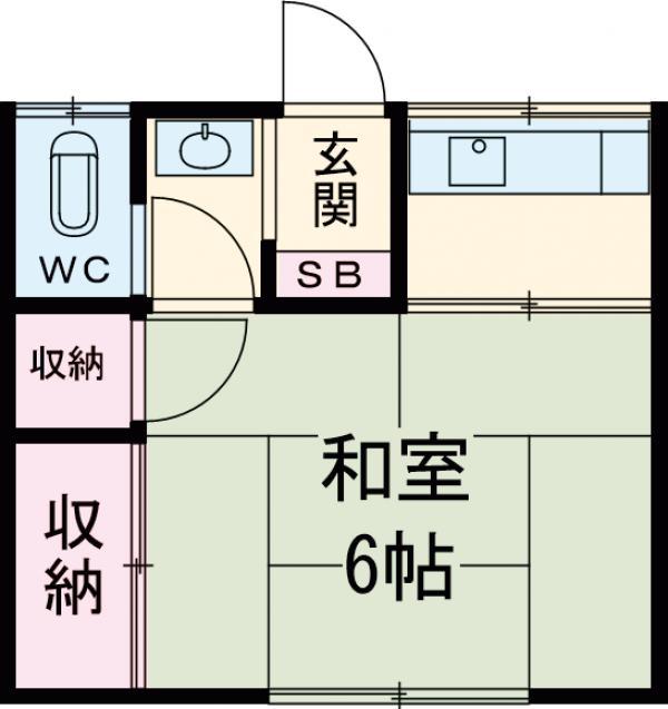 内田荘・102号室の間取り