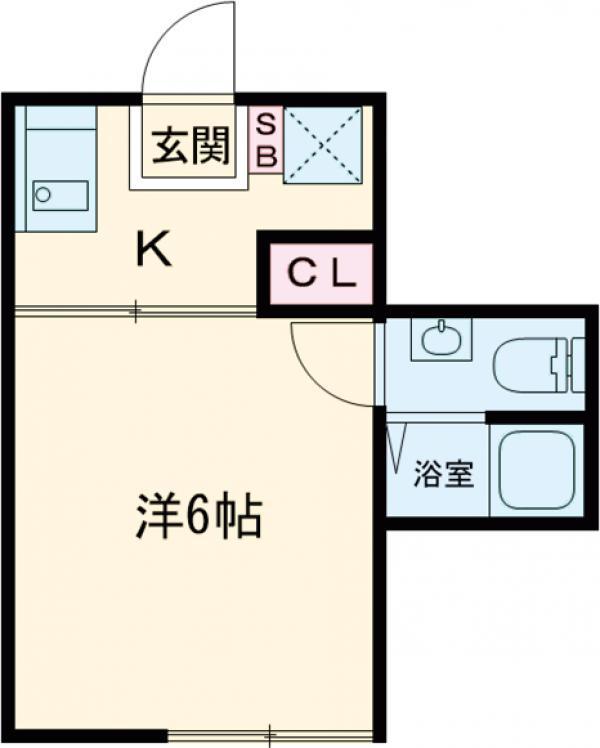 タウンハウス大岡山 103号室の間取り