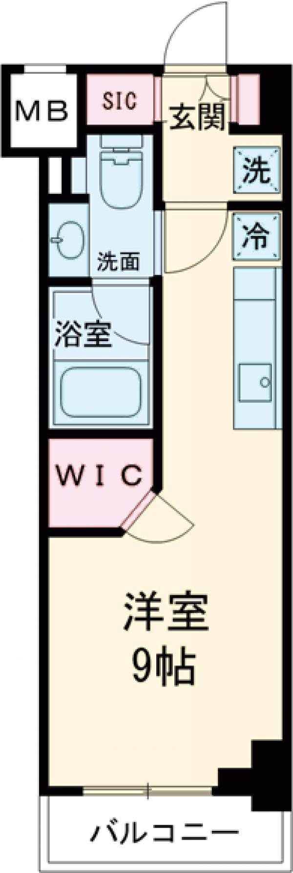 ザ・パークハビオ西大井・514号室の間取り